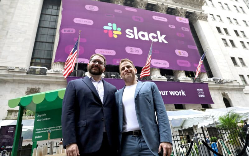 2019年6月、スラックはニューヨーク証券取引所で直接上場した=ロイター