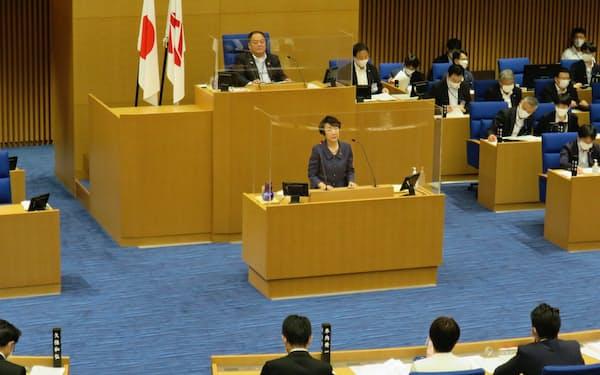 林文子市長が市議会の本会議で答弁した(8日、横浜市)
