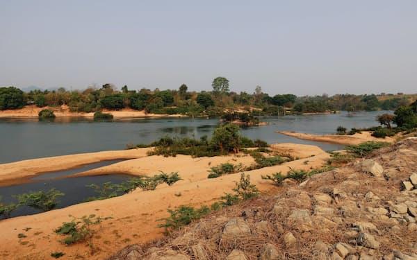 ラオス南部を流れるメコン川