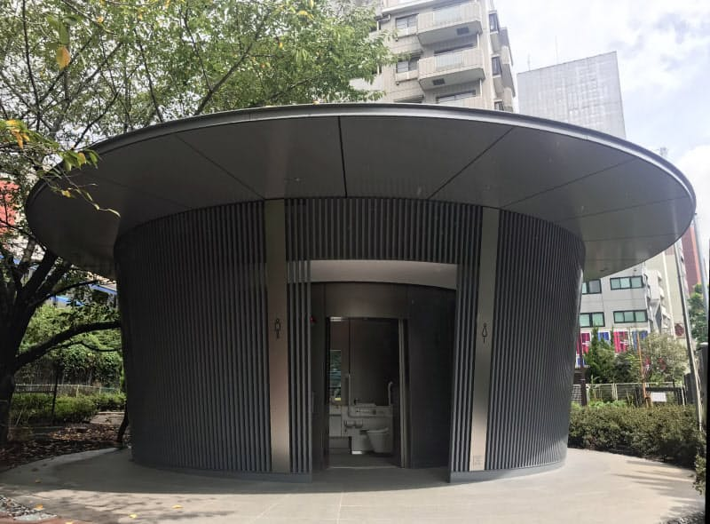 神宮通公園の公共トイレは安藤忠雄氏が設計した