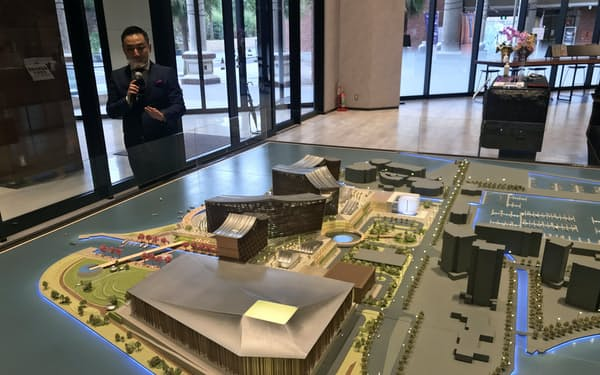サンシティグループが開設する事務所には、和歌山IRの施設模型も展示する(和歌山市)