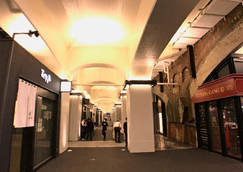 高架下に30店舗が開業する