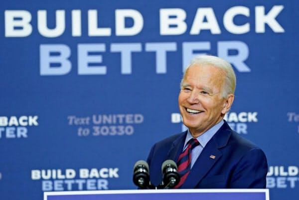 バイデン氏は選挙公約として「メード・イン・アメリカ税制」を発表した=ロイター