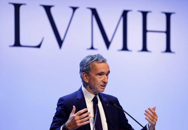 LVMHは米国の関税を買収断念の背景に挙げた(アルノーCEO)=ロイター