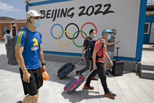 160を超える人権団体が国際オリンピック委員会(IOC)に連名で書簡を送り、2022年の北京冬季五輪の開催の再考を求めた=AP