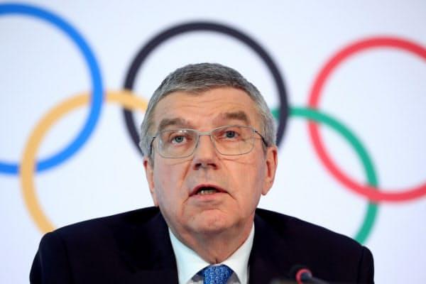 国際オリンピック委員会(IOC)のバッハ会長(写真は3月)=ロイター