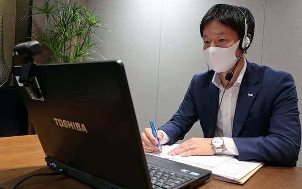 三井住友銀行ではリモート面談の注意点をまとめたマニュアルも作成した(大阪市北区)