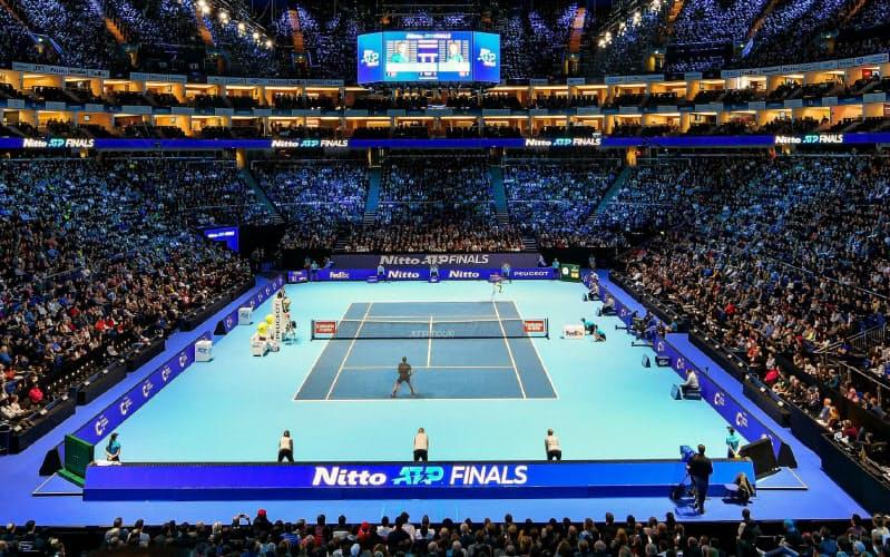 男子プロテニスのシーズン最終戦「ATPファイナル」の大会名に引き続き日東電工の社名が入る