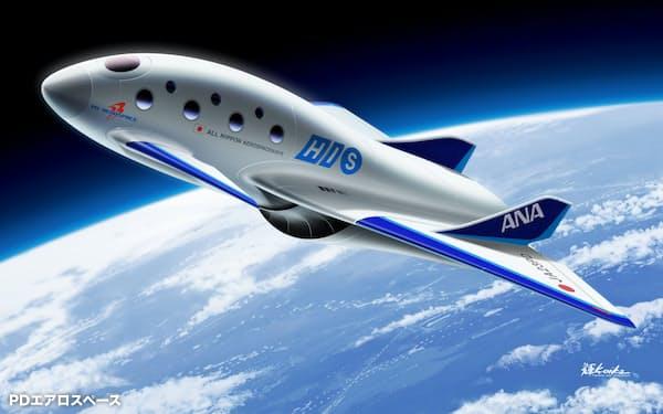 宇宙飛行機のイメージ(PDエアロスペース提供)