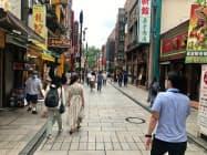 観光業の回復をねらう(横浜中華街)