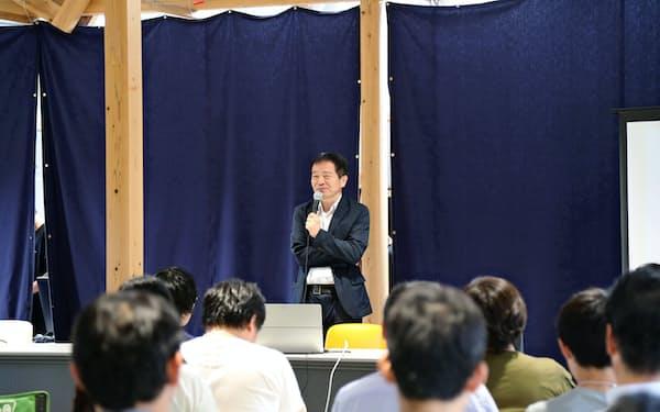 2019年のスタートアップベンチャーキャンプで登壇したNTVP代表の村口和孝氏