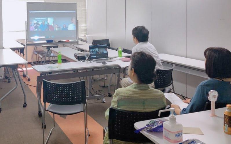 NPO法人「医療ネットワーク支援センター」は首都圏の避難者がオンラインでつながる場を作っている(7月、東京都渋谷区)=同NPO提供