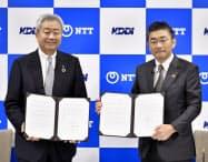 NTTとKDDIは災害時の物資運搬などで、連携を始める(11日)