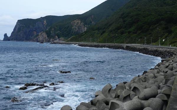 神恵内村は漁業が主産業だ(11日)
