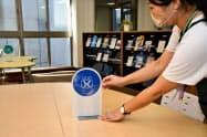 対面授業再開後もソーシャルディスタンス確保などを呼びかける(水戸キャンパスの図書館)