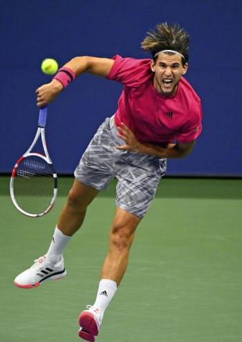 男子シングルスで決勝進出を決めたドミニク・ティエム(11日、ニューヨーク)=USA TODAY