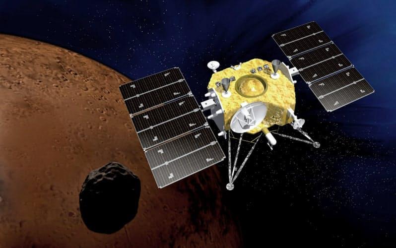 JAXAなどがすすめる火星衛星探査計画「MMX」のイメージ(JAXA提供)