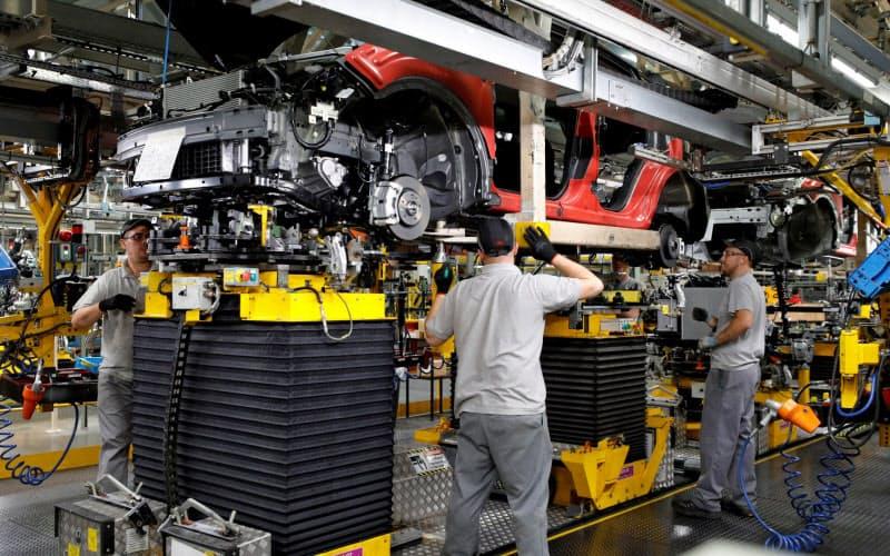 FTAが結ばれなければ英国と欧州の双方の自動車業界にとって打撃となる(写真は日産自動車の英国サンダーランド工場)=ロイター