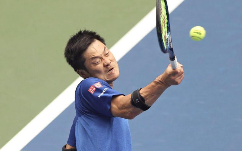 車いすの部、男子シングルスで5年ぶり7度目の優勝を果たした国枝慎吾(13日、ニューヨーク)=ゲッティ共同