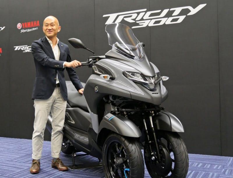 前二輪の三輪バイクの新型「トリシティ300」は、バイク利用者ではない人も関心を寄せている