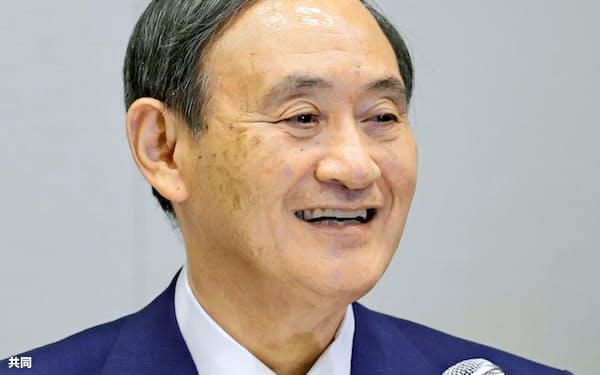 菅新政権の閣僚人事に市場関係者の視線が集まっている(2日、自民党総裁選への出馬を表明した記者会見で)=共同