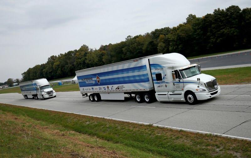 ナビスターはトレイトンの買収提案を拒否し条件の引き上げを求める(自動運転の試験をするナビスターのトラック)=ロイター