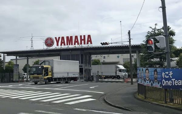 国内生産の構造改革の検討を始めた(写真は静岡県磐田市内で二輪を手掛ける本社工場)