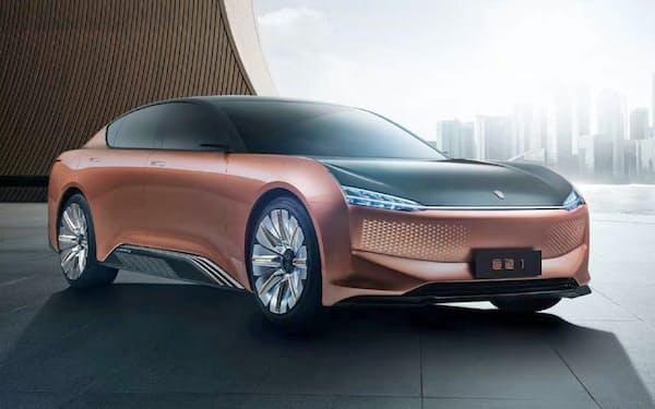中国恒大新能源汽車集団が開発する新エネ車のイメージ