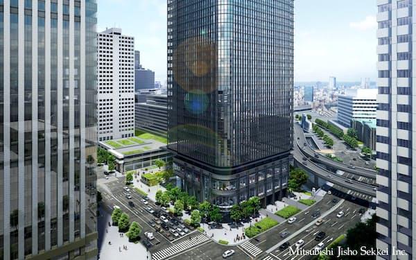 古河機械金属グループが新本社を予定する「東京駅前常盤橋プロジェクトA棟(仮称)」(イメージ図)