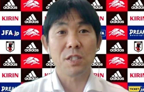 オンラインで取材に応じるサッカー日本代表の森保監督(15日)=共同