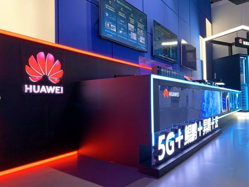 ファーウェイなど中国企業の多くが出展した(15日、重慶市)