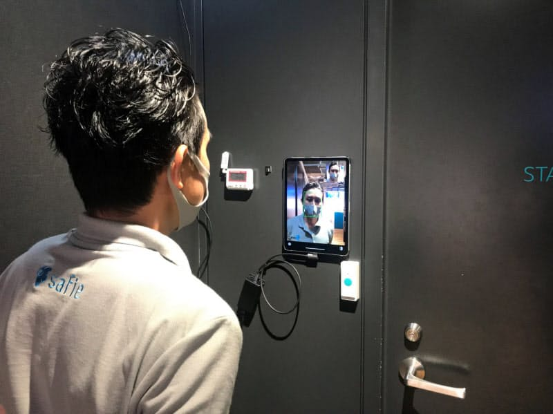 セーフィーの顔認証システムは、複数の拠点の入退室情報も一括管理できる