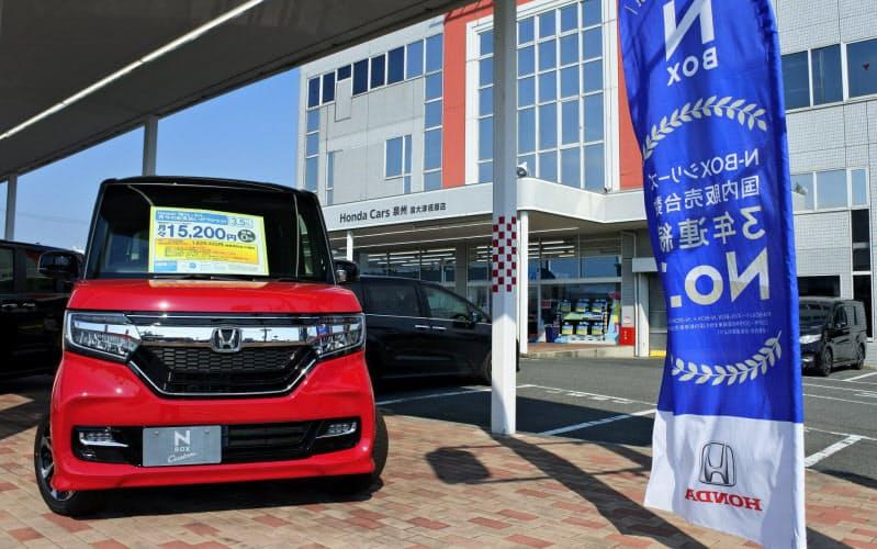 軽自動車の販売は前年並みに戻してきた(大阪府和泉市のホンダ泉州販売)