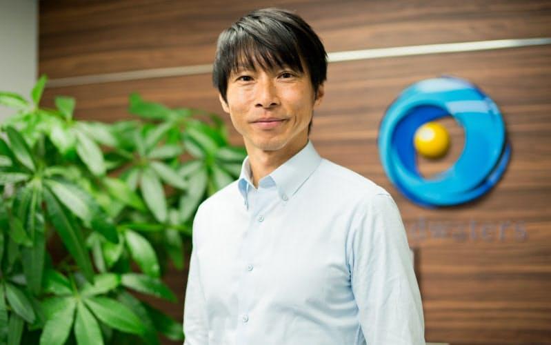 初値が公開価格の11.9倍まで上昇し、過去最高を更新したヘッドウォータースの篠田庸介社長