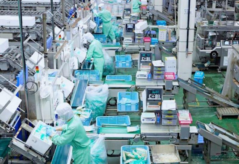 「名水美人」は日本で最も売れているモヤシのブランド(大分県日田市の日田工場)
