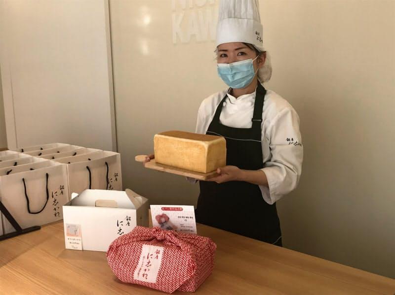 「銀座に志かわ」の商品は2斤で税別800円の食パンのみ(金沢市)