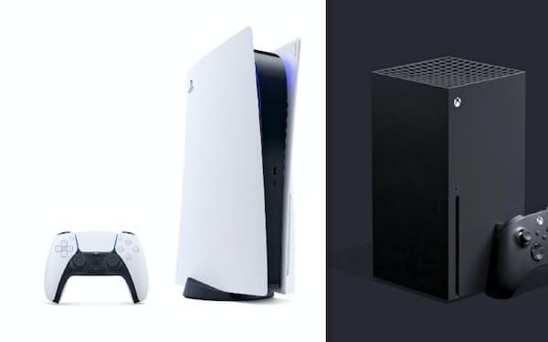 プレイステーション5(左)とXbox新世代機
