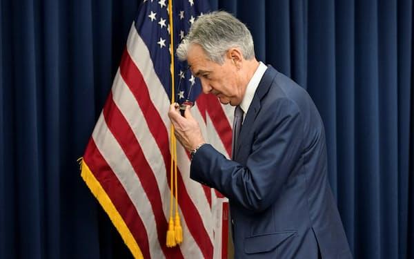 米連邦準備理事会(FRB)のパウエル議長(3月、ワシントン)=ロイター