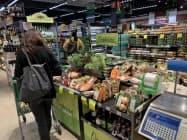 通貨安の影響もあり、物価が上昇していた(9日、サンパウロ)