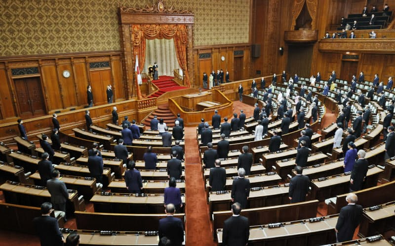 コロナ対策で参加人数減 臨時国会開会式