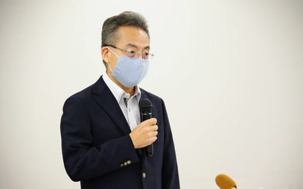 杉本知事は「4連休中に県内で大規模イベントを開催するとは聞いていない」と話した(17日)