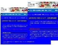 「適地」という調査名(右)を「可能性」に変更した山形県(県のホームページ)