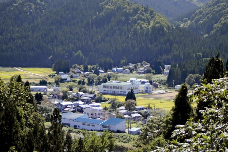 菅首相が生まれ育った秋田県湯沢市の秋ノ宮地区(9月7日)