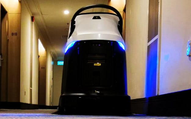 ホテルで採用されたじゅうたん掃除ロボット(高仙自動化科技発展提供)