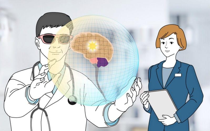 大日本住友製薬とKDDIはXR技術を使ったコミュニケーション基盤の構築に取り組む(イメージイラスト)
