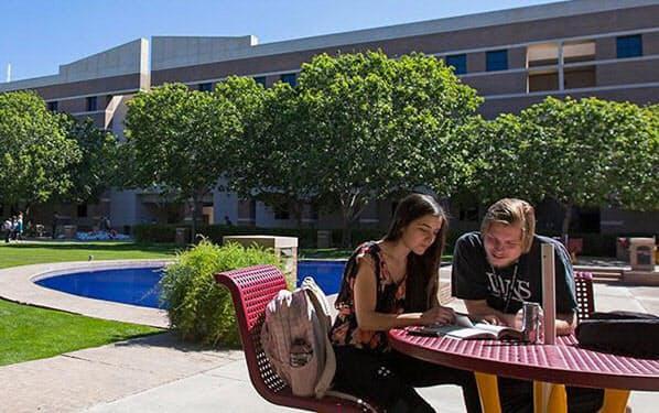アリゾナ州立大学のキャンパス(米アリゾナ州フェニックス)=同大学サンダーバード提供