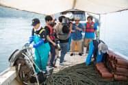 四国水族館のオンラインサロンでは、タコ縄漁の様子を動画配信する予定