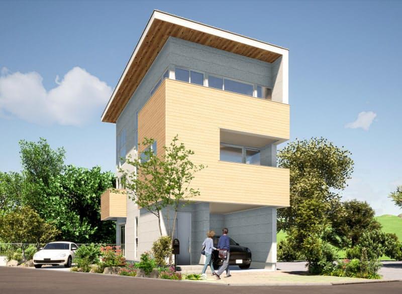 8月に発売したCLT戸建て住宅「LAMI」(イメージ画)