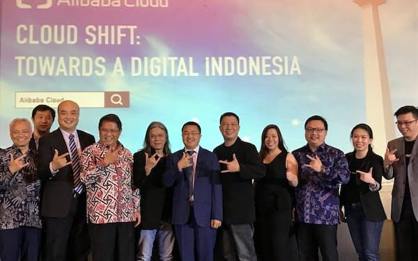 アリババはインドネシアで相次ぎデータセンターを開設。2021年に3カ所目を計画する(18年、ジャカルタ)