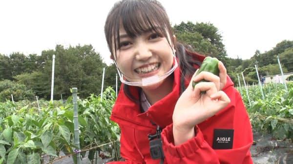 「畑そのまんまレストランにする。in高崎」に出演した乃木坂46の久保史緒里(C)テレビ東京